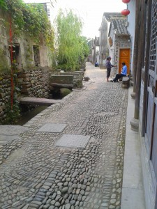 Qiantong Ancient Town Gravel Path