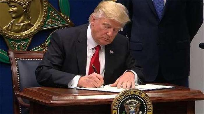 Donald Trump Signs a bill